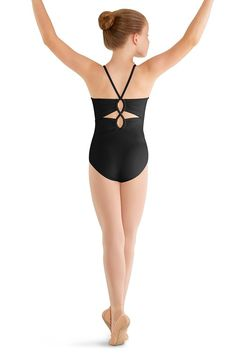 Mirella Girl's Black Twin Twist Back Cami Leotard  Isn't this gorgeous!