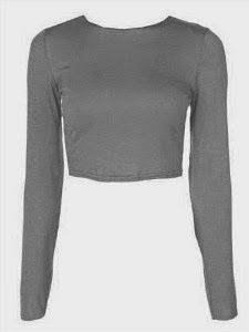 Create a low-cost Flashdance Jennifer Beals costume with this loose fit, long sleeved crop top. Wear off the shoulder and add a black leotard and leggings.