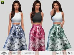 The Sims Resource: Faded - Dress by Metens • Sims 4 Downloads
