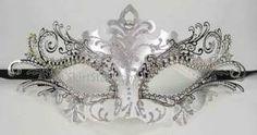 Laser cut metal venetian mask