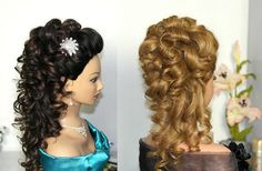 Bridal, prom hairstyle for long hair. Curly hairstyles. Свадебная причес...