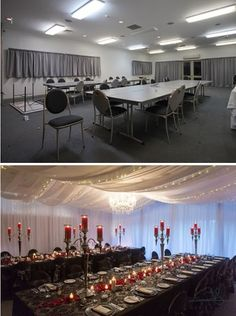 Wedding Reception Venue Before And After Table Decorations Ideas Tamar Valley Resort