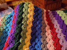 Crochet Shell Stitch, Shells, Blanket, Conch Shells, Clams, Seashells, Sea Shells, Rug, Blankets