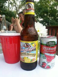 Summeritas! Half summer shandy and half bud light lime strawberita...cuts the sweetness so you can keep drinking!
