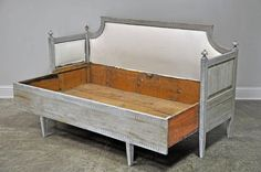 Swedish Daybed with Original and Functioning Trundle | From a unique collection of antique and modern daybeds at…