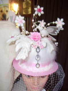 My Shabby Chic Top Hat Tree Topper