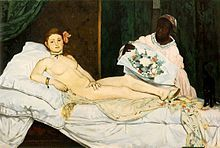 Manet's Olympia...doesn't she think she's hot stuff?