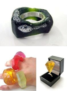 soap rings by Hannah Louise Pittman. very interesting! would love to hear how she came up with the concept!