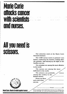 Marie Curie Cancer Care. 9 March, 1993