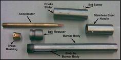 Railway Bob's Foundry & Burner Construction: The Burner Parts