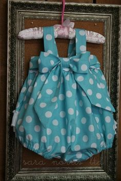 Custom made Sweet Baby Jane Sunsuit Romper Newborn-4T by Sara Norris Ltd. $45.00, via Etsy.