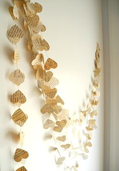 Pretty Paper Garlands | PRISCILLA MAE et al Heart garlands.