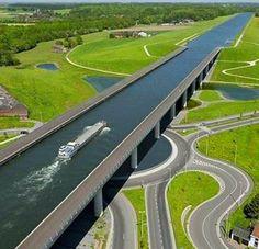 Pont Canal du Sart. Belgium