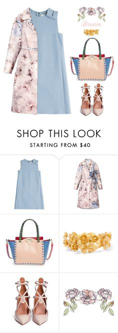"""""""Dream"""" by mockingjayafire ❤ liked on Polyvore featuring Valentino, Universal Lighting and Decor, women's clothing, women's fashion, women, female, woman, misses and juniors"""