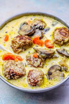 40 minute one pot creamy meatball soup recipe keto diet compatible
