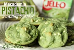 Spice Gals: Macademia Pistachio Pudding Cookies Used gluten free flour with 1/2 tsp xanthan gum. Also didn't use mac nuts and white chocolate chips but added 1 tsp almond extract. SO good!!
