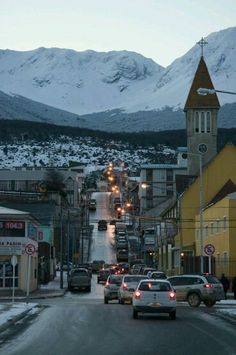 Ushuaia, Argentina is a beautiful city known for it's location on the Beagle Canal where it serves as a place for Antarctic cruises and winter activities.