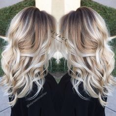 Blonde Balayage Highlights with Curly Long Hair …