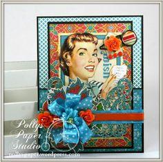"June 2015 G45 ""Bohemian Bazaar"" & RRR - ""Really Retro"" Card by Ginny Nemchak; Polly's Paper Studio"