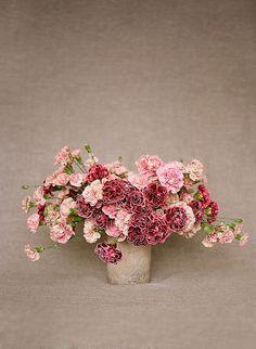 Carnations, Pink Carnation, Red Carnations, Carnation Floral Centerpiece, Loop Flowers, Christina McNeill