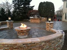 paver patio with fire pit - Google Search