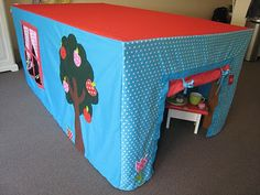 A version of this. use velcro to attach it to the underside of the table. The exterior will have outdoor activities and the interior will have interior projects