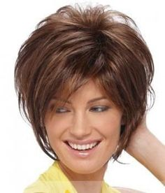 Hairstyles For Women Over 50 Asymmetrical Short Bob With Layers