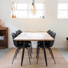 This is our handcrafted oak table 'Hesse'. For more information visit our website. Decor, Furniture, Room, Oak Table, Dining Table, Table, Home Decor, Conference Room Table, Oak