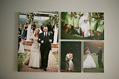 canvas photo wall display-- this is so fun!