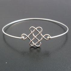 Celtic Knot Bracelet  Silver Celtic Bangle Celtic by FrostedWillow, $14.95