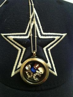 Add some football charms to an Origami Owl Living locket to show your football love!