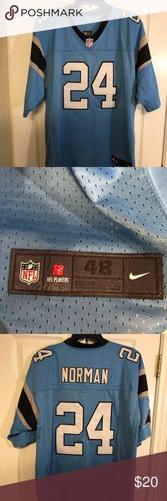 d10fb692a0f2 Carolina Panthers Josh Norman Jersey Sz 48