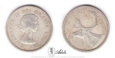 1956 #SILVER #CANADIAN QUARTER Caribou, Elizabeth II #CoinCollecting #Coins @Etsy http://etsy.me/17T9t3X