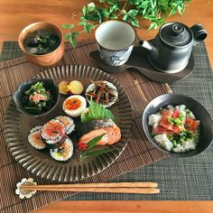 Japanese Food Dishes, Asian Recipes, Real Food Recipes, Cute Food, Yummy Food, Plate Lunch, Snacks Dishes, Food Platters, Asian Cooking