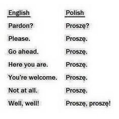 Lol, so many uses for proszę ! Polish Alphabet, Polish To English, Learn Polish, Polish Words, Polish People, Polish Memes, Polish Language, Language Lessons, Lol