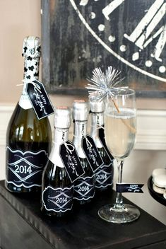 Black and White Party Decor  Vintage Style Countdown Party {Classic Black & White}