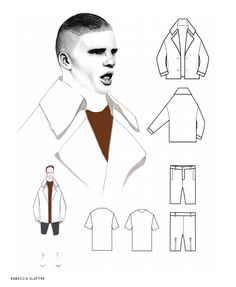 Fashion Sketchbook - fashion illustration; technical fashion drawings; fashion portfolio // Rebecca Slater
