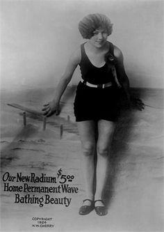 1924  Radium Home permanent wave ad