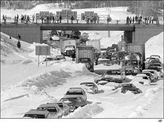 In Jan. of 1978 a rare, severe blizzard hit Ohio and. The Storm dropped 40 inches of snow and had winds gusting up to 100 miles per hour -- causing drifts that buried some homes.