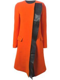 NEIL BARRETT panelled bi-colour overcoat
