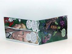 Comic Book Wallet// Justice League Dark// Frankenstein, Deadman, and Constantine, $4.00