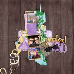 I do not do digital scrapbooking, but if I did, this girl would be my hero. SO many cute Disney elements.