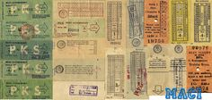 bus and train tickets