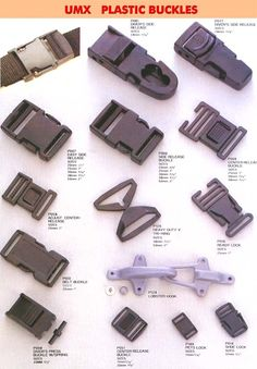 Plastic Buckle Series 1: Plastic Buckles, Tri-Rings, Locks, Pet Locks, Shoe Locks
