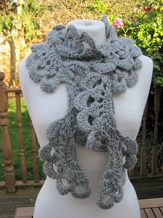 Anesha Crochet Lace Scarf by Fiona Morris