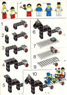 Thousands of complete step-by-step printable older LEGO® instructions for free. Here you can find step by step instructions for most LEGO® sets. Lego Duplo, Lego Toys, Lego Lego, Vintage Lego, Lego Design, Notice Lego, Bloc Lego, Lego Therapy, Modele Lego