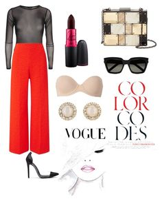 """""""Khlo"""" by nimotalai on Polyvore featuring Roland Mouret, MAC Cosmetics, Yves Saint Laurent, Sondra Roberts, Calvin Klein and Kate Spade"""
