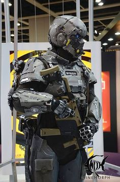 Robot concept art military future soldier 55 Ideas for 2019 Military Armor, Military Gear, Mode Cyberpunk, Combat Suit, Tactical Armor, Futuristic Armour, Military Special Forces, Sci Fi Armor, Future Soldier