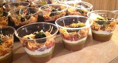 Individual taco dips for a party
