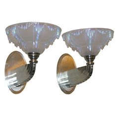 French Art Deco Wall Sconces | From a unique collection of antique and modern wall lights and sconces at http://www.1stdibs.com/furniture/lighting/sconces-wall-lights/